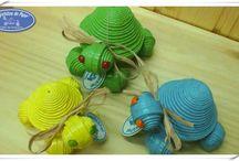 Tortuga Joyero Colores / Comenzamos la semana con colores, esos colores alegres del verano.  Desearos a todos una feliz semana!!! #caprichitosdepapel #lalíneadelaconcepción #tortugajoyero #TortugaColores