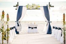 A Navy Blue Beach Wedding