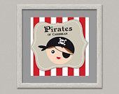 Pirate Party / Printable Pirate Party Flags, invitations and cupcake toppers