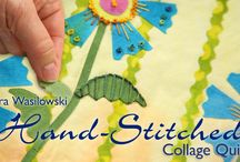 Hand-Stitched Collage Quilts