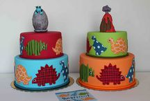 Dinosaurs / Inspiration for my son's 4th birthday cake