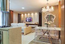 Sala e cozinha integrada