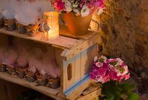Casamento Rústico - decoração com caixotes de madeira