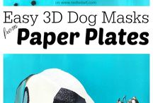 Dog Crafts for Kids / Easy Dog Crafts for Kids and Grown Ups. Love Dogs? Love Dog DIYs and Dog Crafts? Check out this great list!