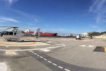 Helipuerto de Ceuta / Desde el 9 de enero de 2004 es posible volar a Ceuta desde Málaga en helicóptero al nuevo helipuerto. Este helipuerto es el primero de España construido y gestionado por Aena con el fin de asegurar la accesibilidad de la ciudad autónoma por el aire y dar servicio así a la demanda de tráfico aéreo existente.