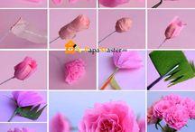 цветы с гофрированной бумаги