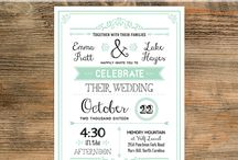 {Printable Wedding Templates} / by Upcycled Treasures/A Handcrafted Wedding