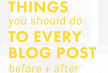 Blogging Tips / How to blog better!