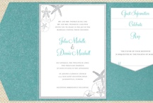 Beach side wedding invites