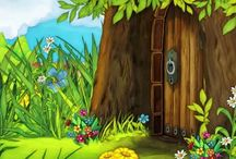 Animation scenes - fairy tales / Beautiful scenes from well known fairy tales