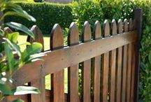 Wood Fence / Wood Fence Designs, Colors, and Layouts.