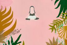 yoga ilustrations