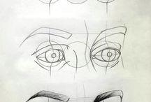 Dibujo lapiz ojos
