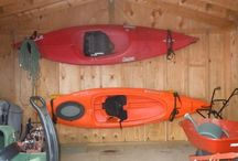Kayak rack, kayak garage wall rack, kayak cradle