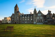 The Grounds of the Beautiful Abbey / Self catering apartments on the shore of Loch Ness in Fort Augustus Abbey.
