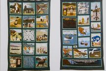 Ullapool Bi-Centenary Quilt / Some images from the museum exhibit, the bi-centenary quilt, created in 1988 to mark 200 years since the creation of Ullapool as a fishing port by the British Fisheries Society