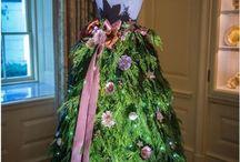 Christmas tree skirt mannequins