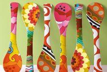 cucharones en madera