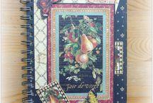 Deníky / ukázky vlastnoručně vyrobených zápisníků - deníků