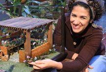 Dollhouse Mini orquidário da miniaturista Edi Merez