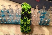 Rainbow loom bracelets / by Heidi Gregory