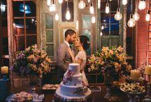 mini wedding decoração