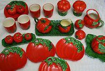 vintage tomato ware