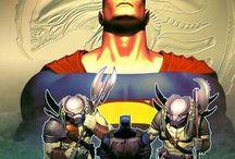 Superman and Batman VERSUS Aliens Predator number 1 / Comics book