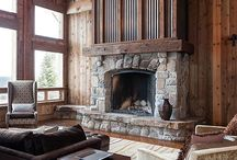 Fireplaces for a Timber Frame Home / A timber frame home isn't complete without a cozy fireplace. Which style do you like? We've found a lot of inspiring ideas!