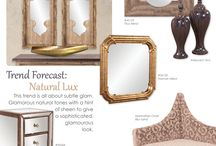 ON TREND: Natural Lux / TREND FORECAST: Natural Lux This trend is all about subtle glam. Glamorous natural tones with a hint of sheen to give a sophisticated, glamorous look.