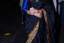 Beautiful babes in saris.