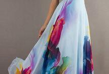 vestido de hermosas flores.