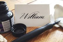 modern calligraphy / handwritten modern calligraphy place cards, envelopes, invitations, table numbers, menus, and more.