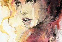 Akvarel portrét