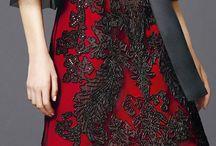 black gown / evening dress