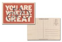 TIMBERGRAM - ORIGINAL WOODEN POSTCARD / Timbergram is a delightfully distinctive and stylish wooden postcard.  It was inspired by the original wooden postcards of the early 1900′s. More than just a greetings card, the Timbergram is very much a gift to treasure. They use sustainably sourced wood from forests in Eastern Europe.