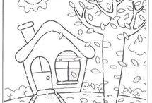 Dibujo de otoño = PLÁSTICA .