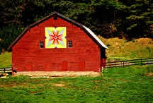 Barns with Quilt Squares