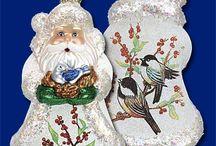 Old World Christmas Decor / Beautiful vintage Christmas pieces