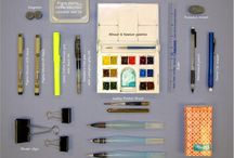 Sketch and Watercolour Kits / Sketch and watercolour kits including sketchbooks, pencils, pens, brushes and palettes.