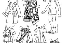 Paperdolls 11- Black and White / Please visit all 12 of my paper doll boards. / by GardenOfDaisies