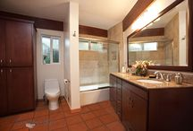 Bathroom Design 63 / Our traditional style bathroom with terra cotta tile flooring.