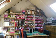 Workshopruimte van CreaMiep / Hier worden diverse workshops gehouden. Kijk voor meer informatie op:  http://www.creamiep.nl/webwinkel/index.php?action=extra&extra=A_workshop&lang=NL