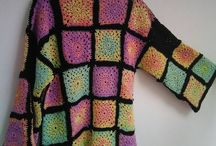 granny square boho sweater