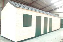Modified Allotment Shipping Containers / Preview of a shipping container converted for an allotment site in the UK