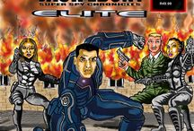 Valentino Alily's Graphic novel samples / These are some pages of two of my company's graphic novels. I. Jack Ebony - Super Spy Chronicles - ELITE (Death Games) 2. Super South Africa (Rage of the Black Star) - created by my son, David, but digitally coloured by me.