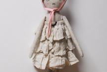 fabric - art - dolls = love