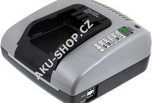 Nabíječky / Fotografie různých nabíječek, např. nabíječky nářadí, nabíječky videokamer, baterií atp.