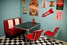 50s diner basement!