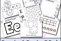 Alphabet Letter E / Activities for learning the alphabet letter E in preschool